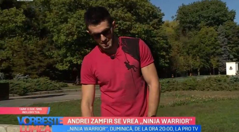 "VIDEO: Andrei Zamfir se vrea ""Ninja Warrior"". Ce pasiuni ascunse are semifinalistul"