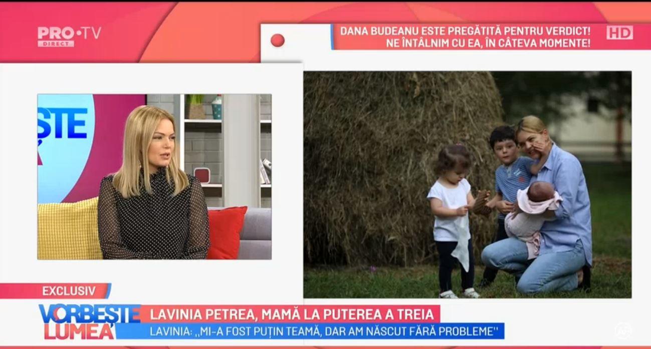 VIDEO Lavinia Petrea, despre experiența de a fi mama pentru a treia oară