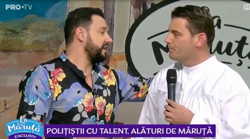 VIDEO Polițiștii cu talent, alături de Măruță