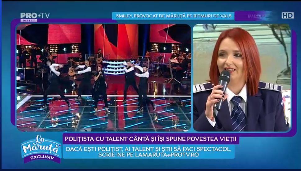 VIDEO Claudia Iuga, polițistă cu talent, semifinalistă la Vocea României