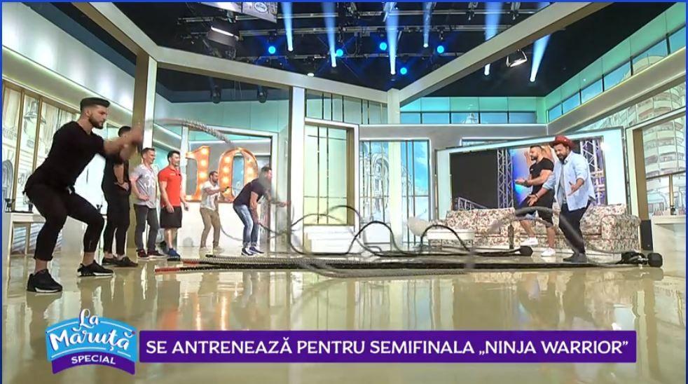 VIDEO Concurenții Ninja Warrior se pregătesc pentru ultima semifinală La Măruță