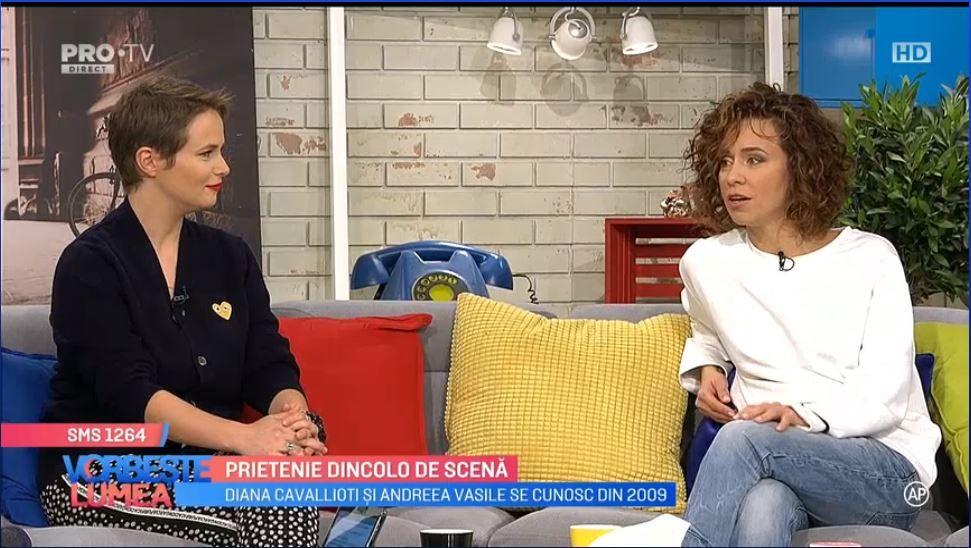 VIDEO Diana Cavallioti și Andreea Vasile, prietenie dincolo de scenă