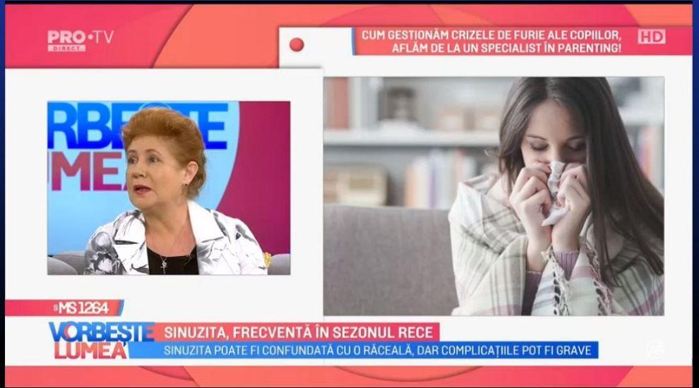 VIDEO Sinuzita, frecventă în sezonul rece