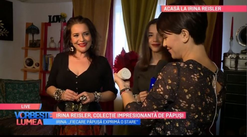 VIDEO Irina Reisler are o colecție impresionantă de păpuși