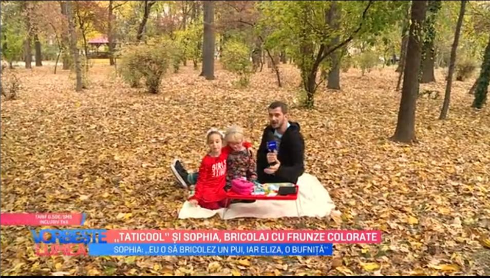 "VIDEO ""Taticool"" și Sophia, bricolaj cu frunze colorate"