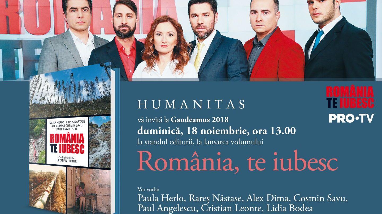 Cartea România, te iubesc! O culegere de fapte și povești românești, lansarea oficiala 18 noiembrie