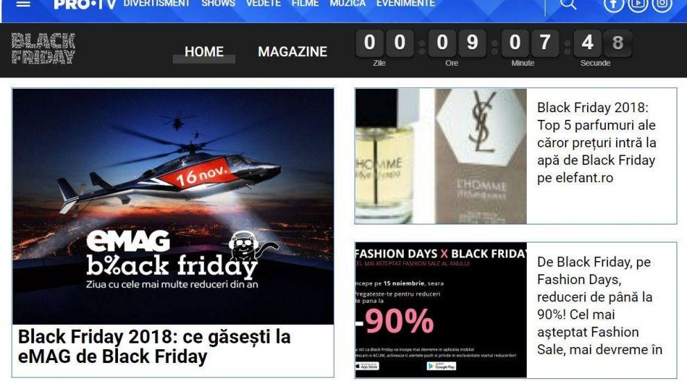 Black Friday vine la PRO TV!