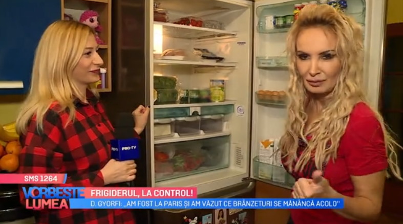 VIDEO Frigiderul, la control. Ce alimente consumă Daniela Gyorfi