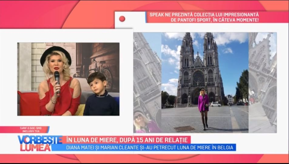 VIDEO Diana Matei și Marian Cleante în luna de miere, după 15 ani de relație