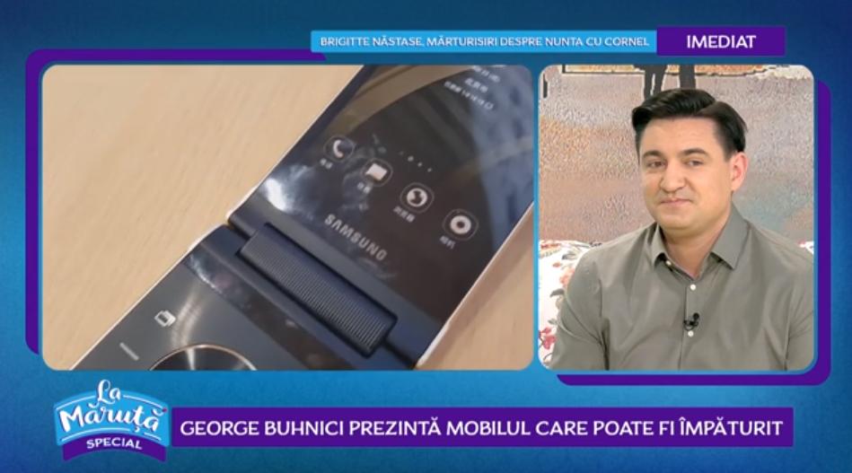 VIDEO George Buhnici prezintă mobilul care poate fi împăturit