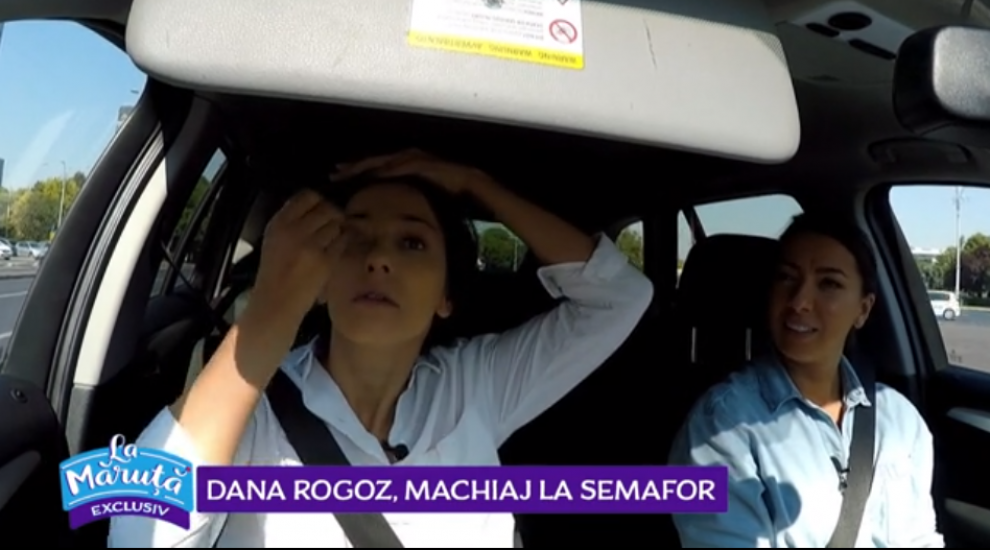 VIDEO Dana Rogoz, machiaj la semafor