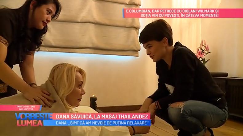 VIDEO Dana Săvuică, pentru prima dată la masaj thailandez