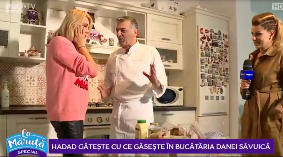 VIDEO Hadad gătește cu ce găsește în bucătăria Danei Săvuică