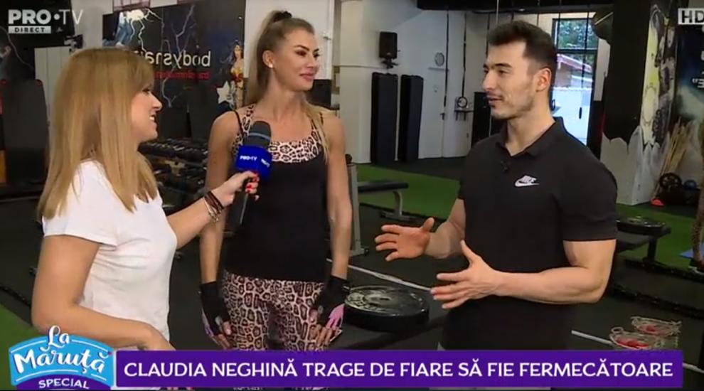 VIDEO Claudia Neghină trage de fiare să fie fermecătoare