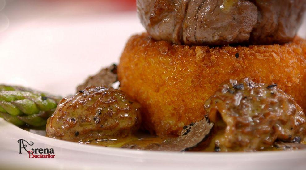 ARENA BUCĂTARILOR: Tournedos Rossini cu mușchiuleț de mânzat, foie-gras și Camembert