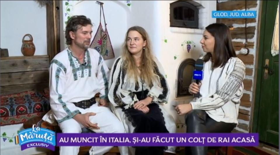 """VIDEO Povestea românilor care și-au făcut un """"colț de rai"""" în România, după ce au lucrat în Italia"""