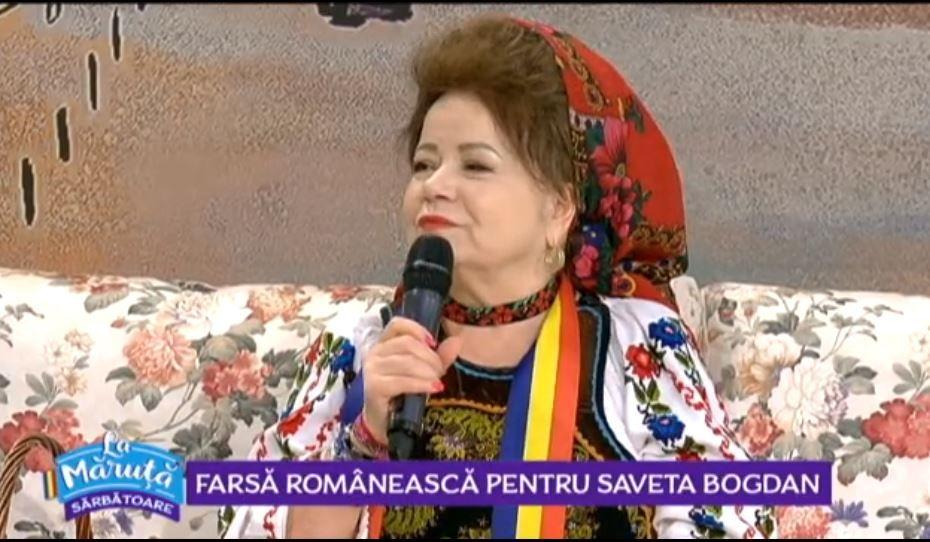 VIDEO Saveta Bogdan ne-a cântat și încântat de 1 decembrie
