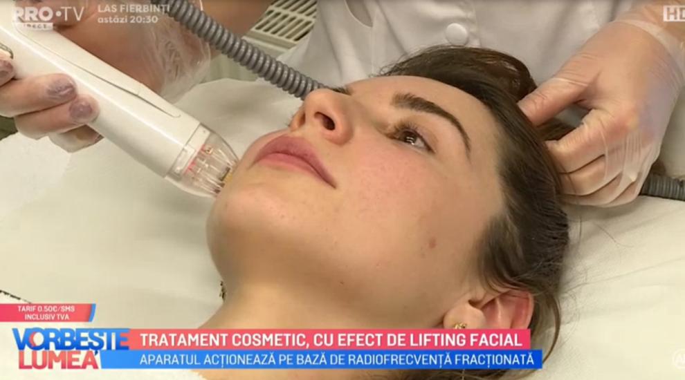 VIDEO Tratament cosmetic, cu efect de lifting facial