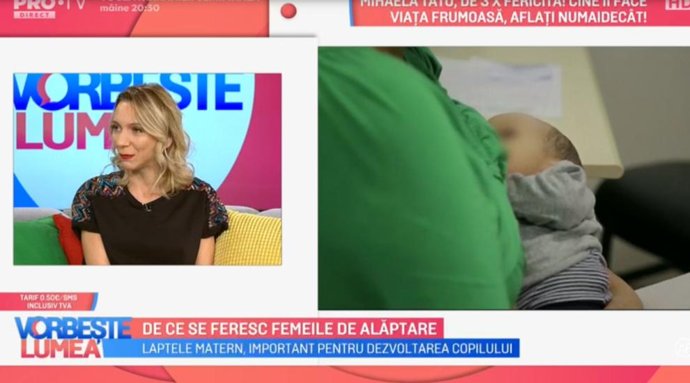 VIDEO De ce se feresc femeile de alăptare. Cum comentează Crina Coliban acest aspect?