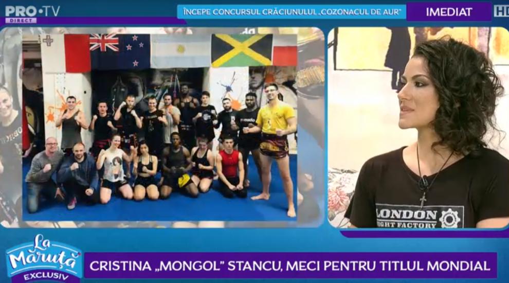 "VIDEO Cristina ""Mongol"" Stancu, meci pentru titlul mondial"