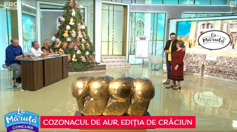 VIDEO Cozonacul de aur: Doamna Mariana Radu a pregătit un cozonac delicios