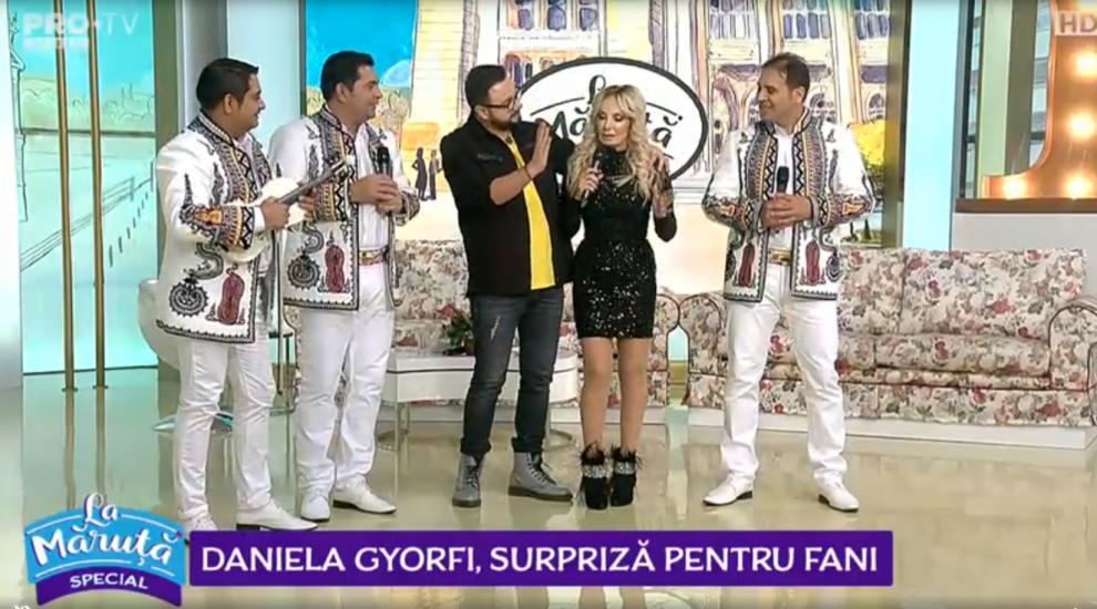 VIDEO Daniela Gyorfi, surpriză pentru fani
