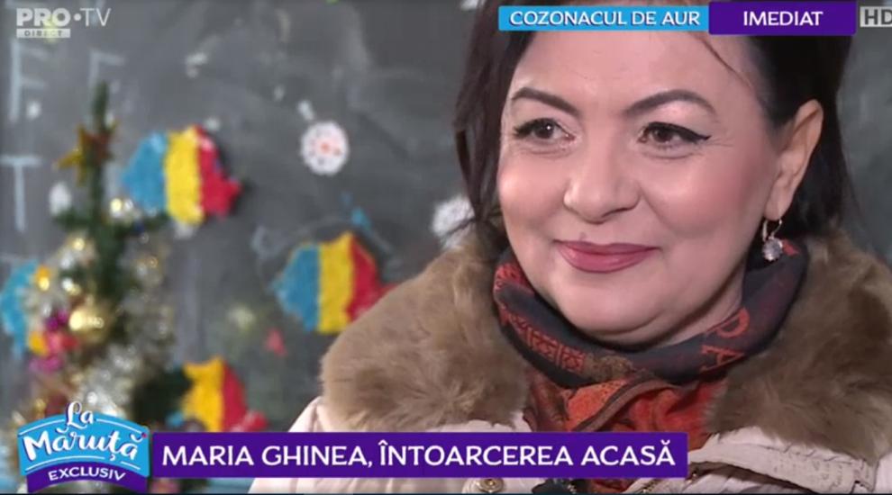 VIDEO Maria Ghinea, întoarcerea acasă