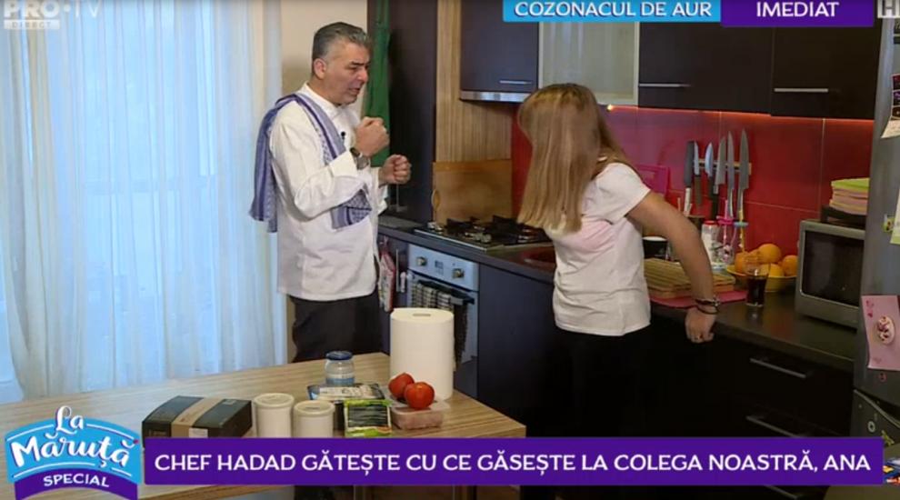 VIDEO Chef Hadad gătește cu ce găsește la colega noastră, Ana