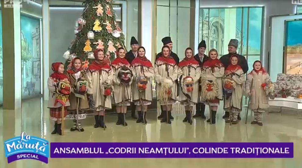 """VIDEO Ansamblul """"Codrii Neamțului"""", colinde tradiționale"""