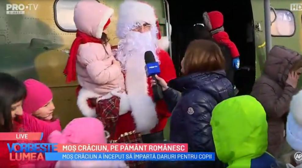 VIDEO Moș Crăciun, pe pământ românesc