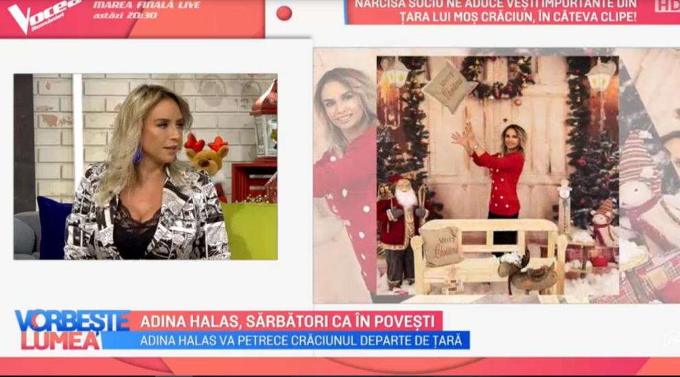 VIDEO Adina Halas, sărbători ca în povești