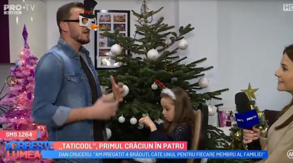 """VIDEO """"Taticool"""", primul Crăciun în patru. Cum vor petrece mult așteptata sărbătoare?"""