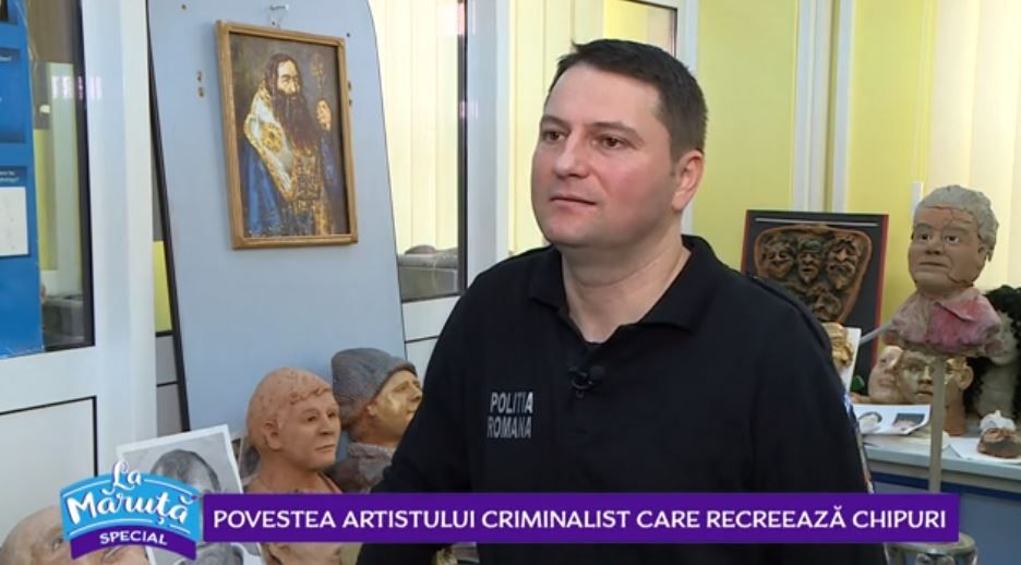 VIDEO Aurel Bădulescu, polițistul cu înclinații artistice