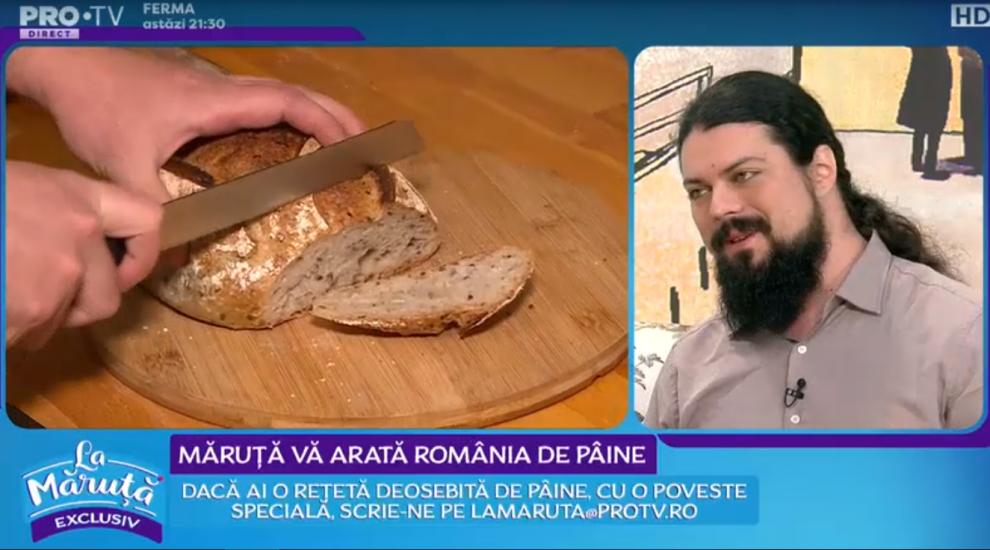 VIDEO Măruță vă arată România de pâine. Răzvan Ioniță a pregătit o pâine cu dovleac