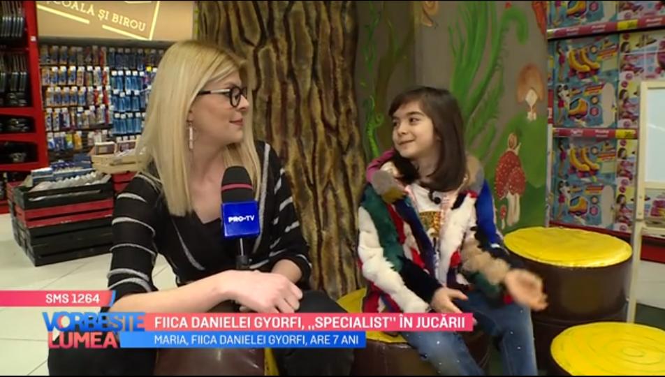 """VIDEO Fiica Danielei Gyorfi, """"specialist"""" în jucării"""