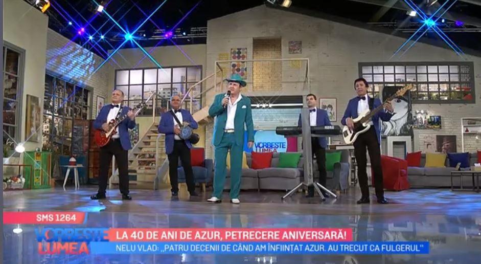 VIDEO Formația Azur, petrecere aniversară la 40 de ani de activitate