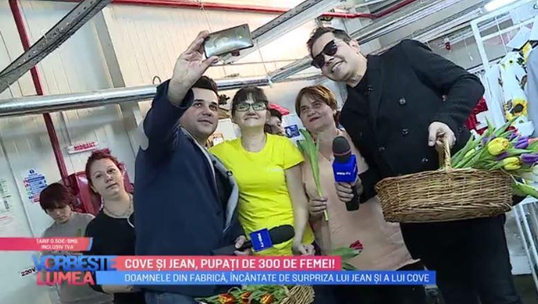 VIDEO Cove și Jean, surpriză pentru doamne de 8 martie