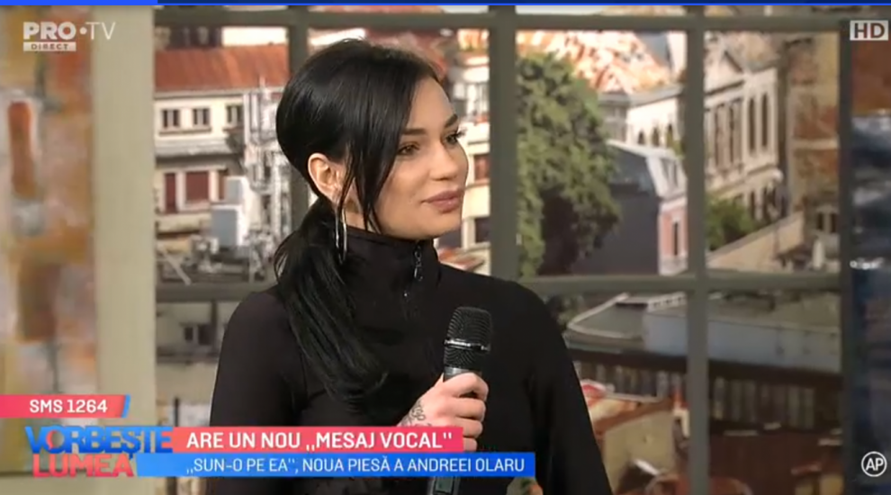 "VIDEO Andreea Olaru are un nou ""mesaj vocal"""