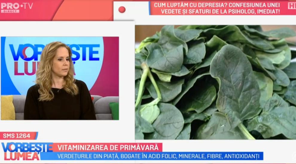 VIDEO Vitaminizarea de primăvară. Ce spune Mihaela Bilic?
