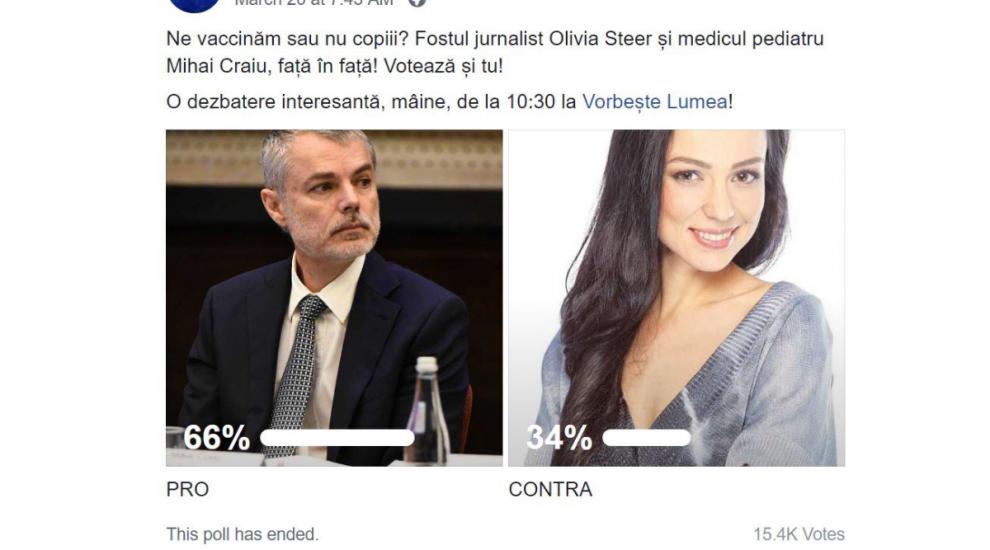 """Ce reacții a stârnit pe net discuția din Olivia Steer și dr. Mihai Craiu: """"Genială dezbaterea!"""""""