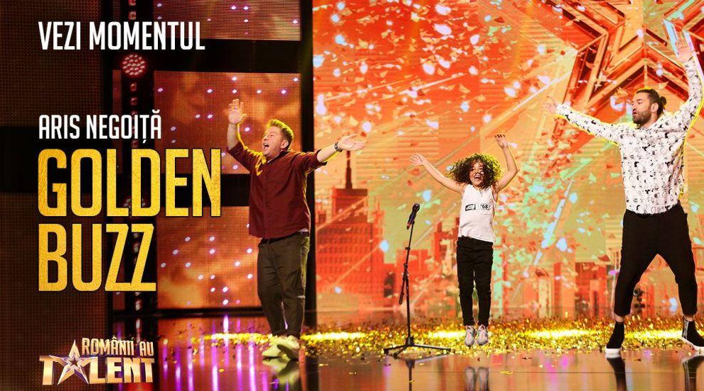 """Aris Negoiță, ultimul Golden Buzz la Românii au talent, sezonul 9: """"E al nostru, e Mowgli al nostru!"""""""