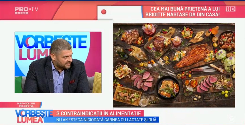 VIDEO Florin Bălănică vorbește despre cele 3 contraindicații în alimentație