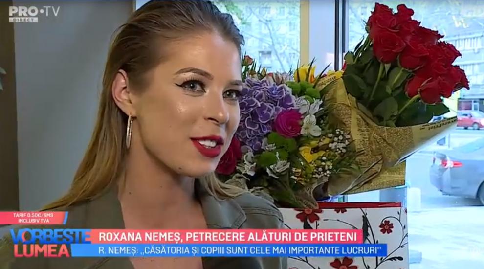 VIDEO Roxana Nemeș, petrecere alături de prieteni