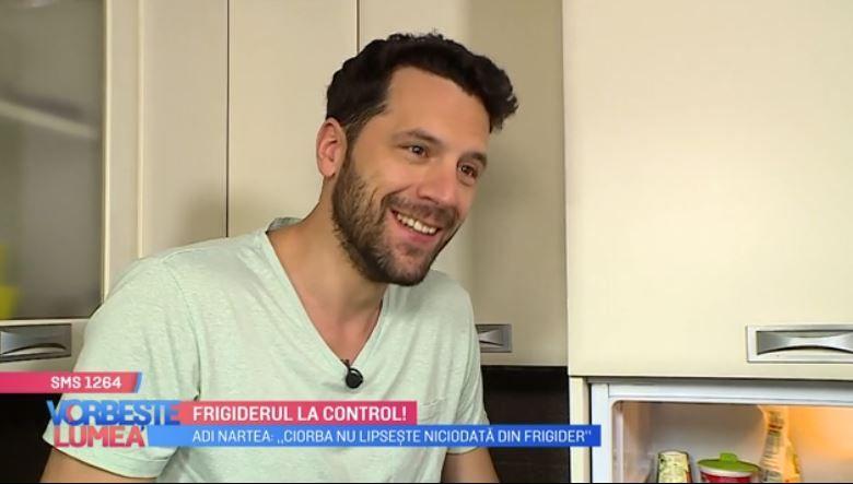 VIDEO Adrian Nartea ne dezvăluie ce se află în frigiderul lui