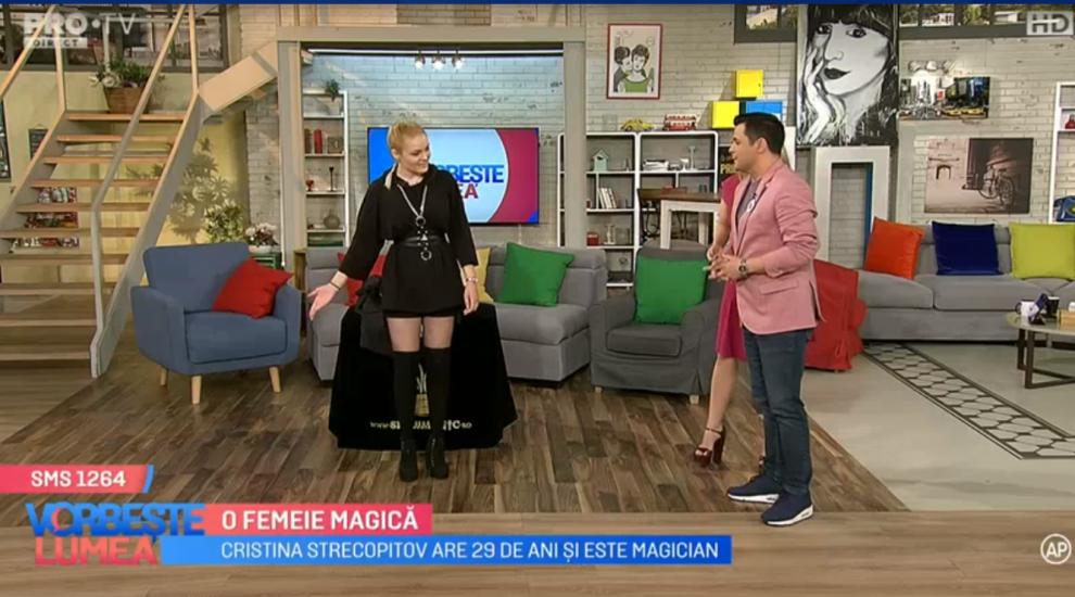 VIDEO Cristina Strecopitov, fosta concurentă de la Românii au talent, număr îndrăzneț de magie