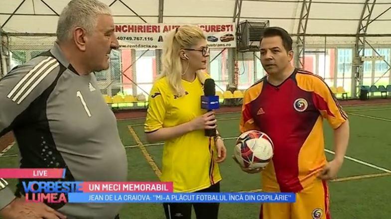VIDEO Jean de la Craiova și Rică Răducanu, provocare pe terenul de fotbal