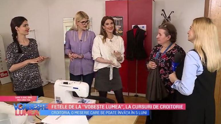 VIDEO Fetele de la Vorbește lumea, la cursuri de croitorie