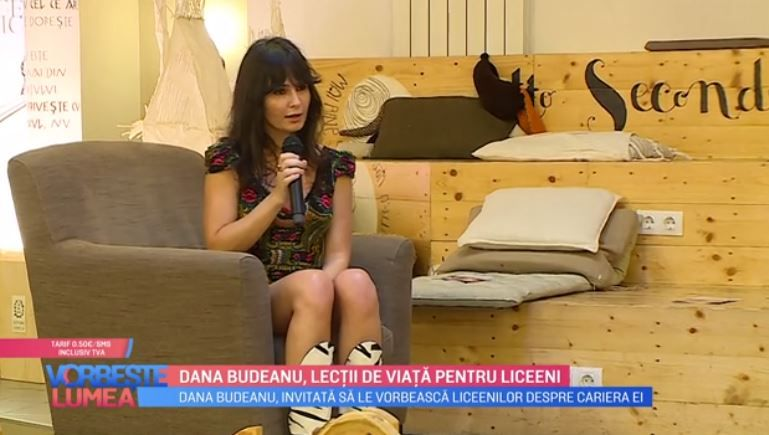 VIDEO Dana Budeanu, lecții de viață pentru liceeni