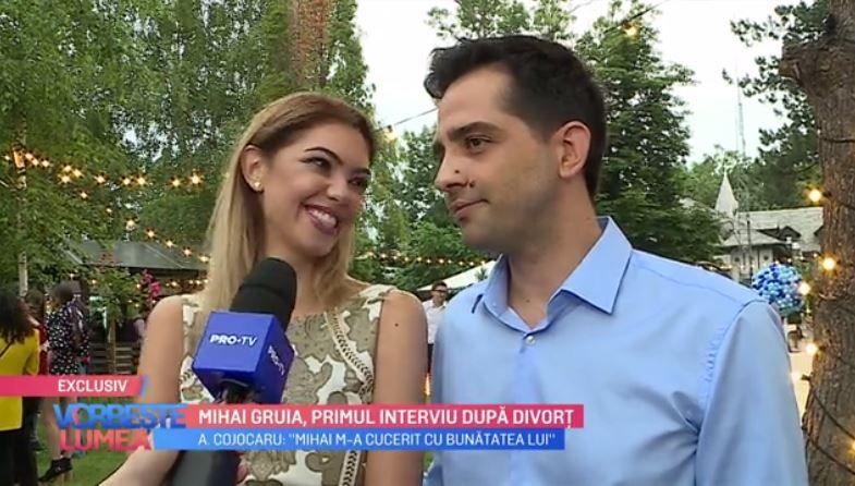 VIDEO Mihai Gruia, primul interviu după divorț