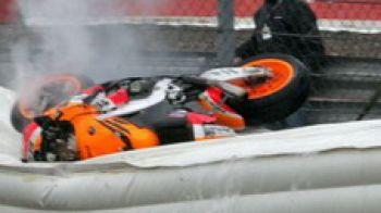 In imagini, accidentarea cumplita a lui Dani Pedrosa!